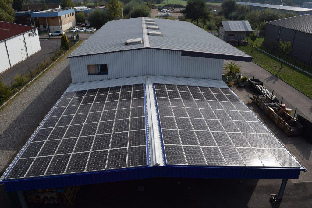 Toit solaire atelier