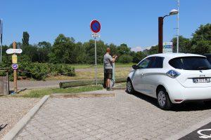 Borne de recharge électrique - Chemins de la Transition - Muttersholtz