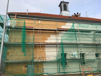 La rénovation thermique de la Mairie : isolation avec la fibre de bois