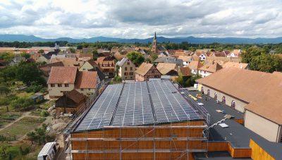 installation panneaux solaires gymnase