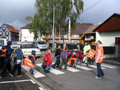 trottibus : les enfants marchent école